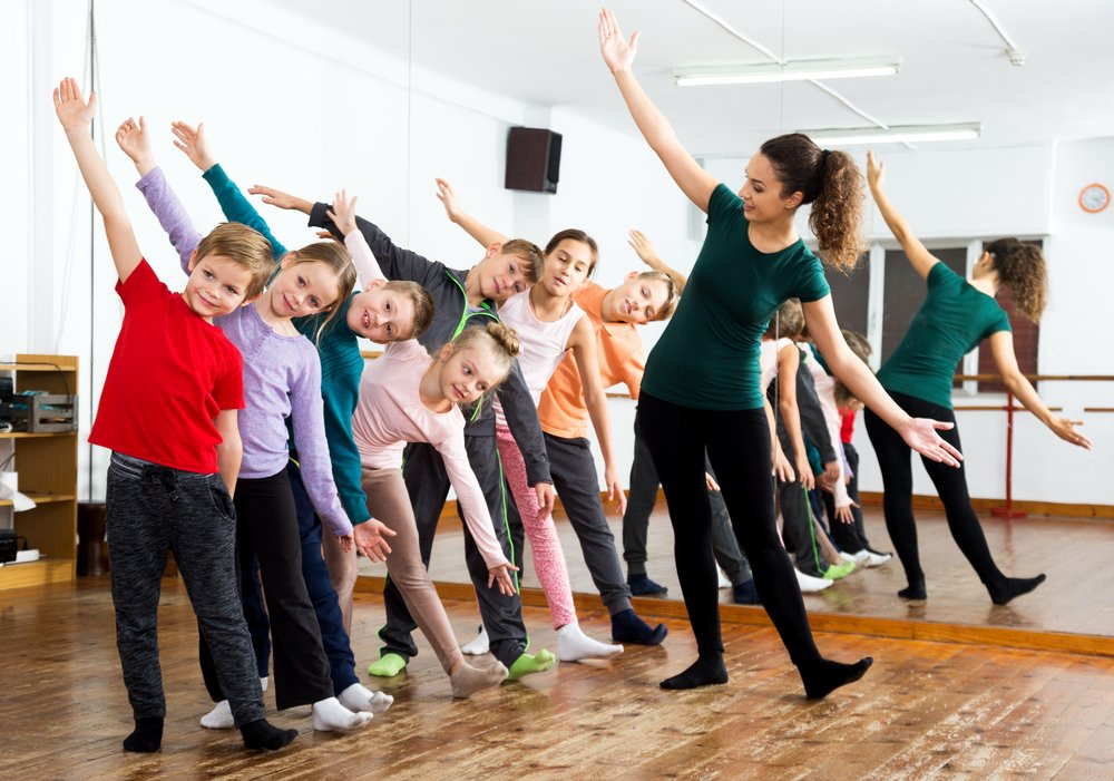 dance teacher and students